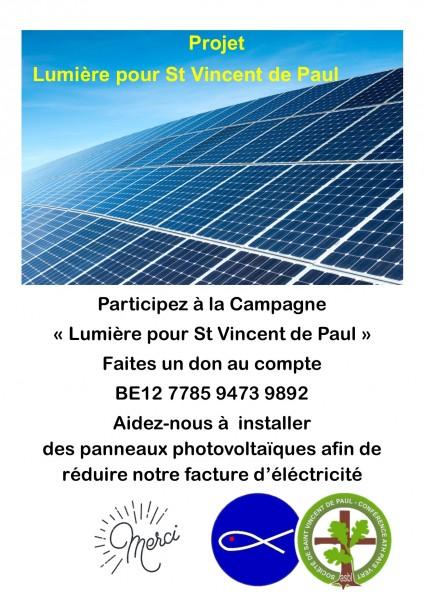 Affiche panneaux solaires Maffle